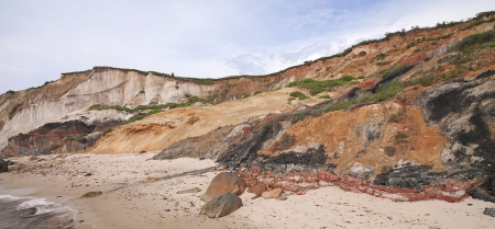 martha: Scenic image of cliffs at beach with sky in background.