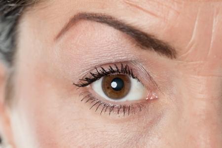 Close up image of female eye