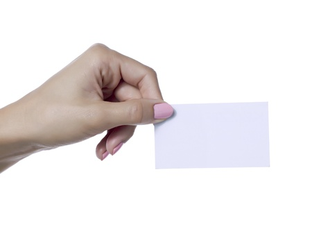 Human hand holding an empty card Stock Photo - 17134472