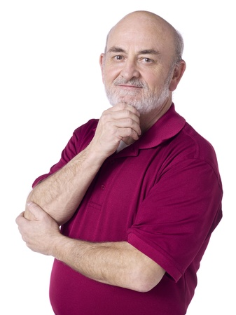 50 years old man: 50 years old man posing with hand on chin