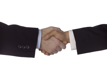Close up image of two person doing corporate hand shake Stock Photo - 17135070