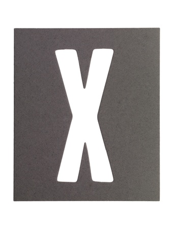 cut paper: Image of paper cut out letter X against white background