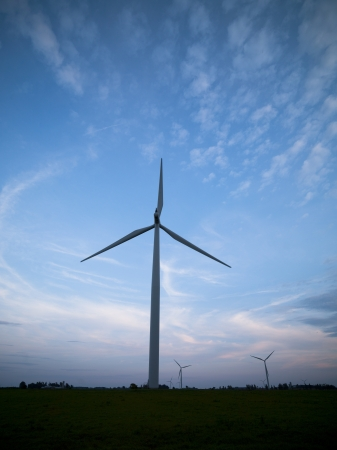 image of a wind farm at sunset Stock Photo - 17135231