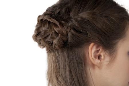 braiding: Beautiful braiding hair in a close-up image