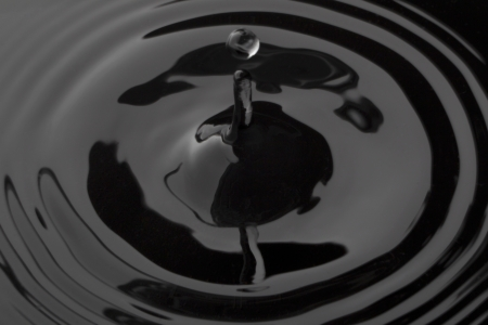 Close up image of a drop of black water Stock Photo - 17148508