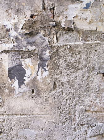 Seamless and old grungy paper on the wall background Stock Photo - 17150346
