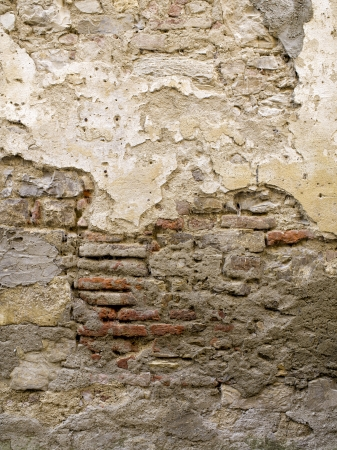 High definition photograph of a ancient worn wall in Italy shot in medium format Hasselblad and Phase One digital for maximum quality. Foto de archivo