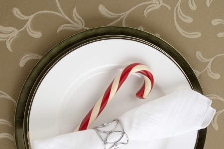 Image of candy cane with table napkin photo
