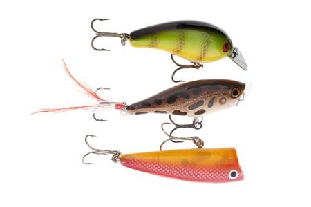 crank: Close-up shot of crank bait fishing lure Stock Photo