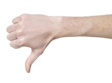 Human hand in disapproved gesture Stock Photo - 17140896