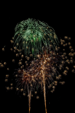 Closeup of fireworks Stock Photo - 17149386