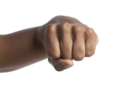 Close up image of human fist against white background Stock Photo - 17141641