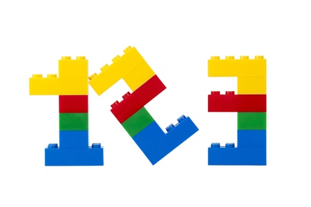 Colorful Legos assembled into numbers