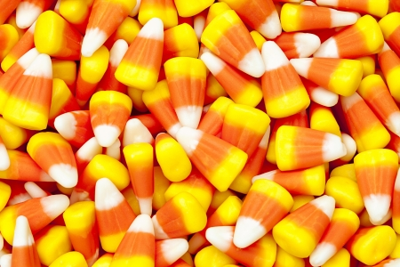 Pile of candy corn for halloween. Stock Photo - 17149747