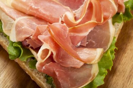 Close up image of prosciutto sandwich Stock Photo - 17149862