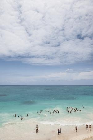 riviera maya: Distancia Vista de riviera maya playa en M�xico Foto de archivo