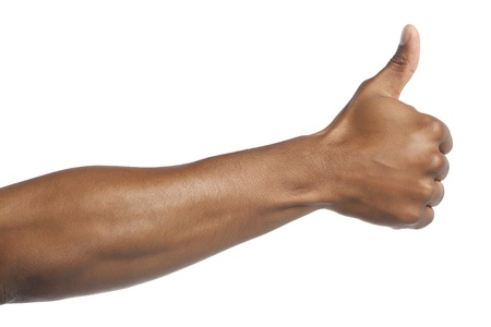 Human hand showing a thumbs up Stock Photo - 17152543