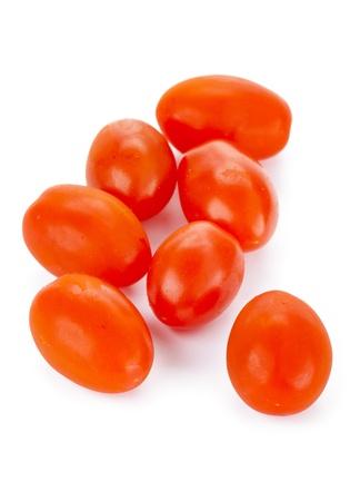 白地に散在トマト 写真素材