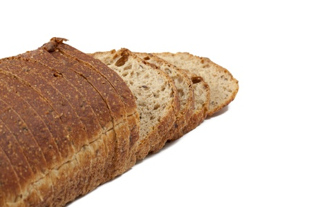 Slices of whole wheat loaf Stock Photo Stock Photo - 17152486