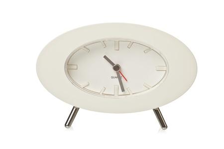 shaped: Oval shaped analog clock Stock Photo