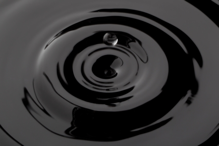 Close up image of black water drop Stock Photo - 17152754