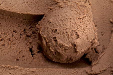 Horizontal image of creamy brown chocolate ice cream photo