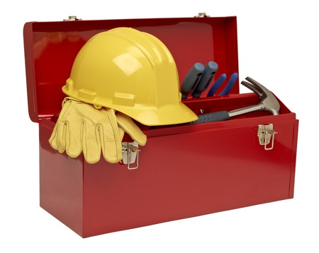 toolbox: Image of tool kit isolated on a white background