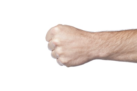 closed fist: Making a closed fist Stock Photo