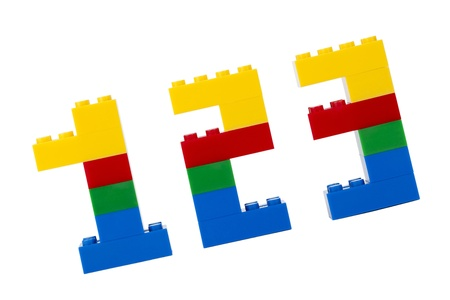 Numbers made of Lego blocks for kids