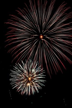 Closeup of fireworks Stock Photo - 17152933