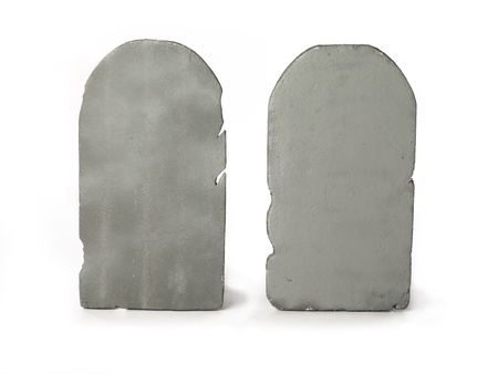 digitally generated image: Digitally generated image of two gravestones.