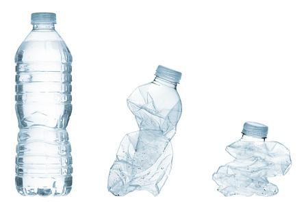 kunststoff: Illustration von Kunststoff-Flaschen und Mineralwasser