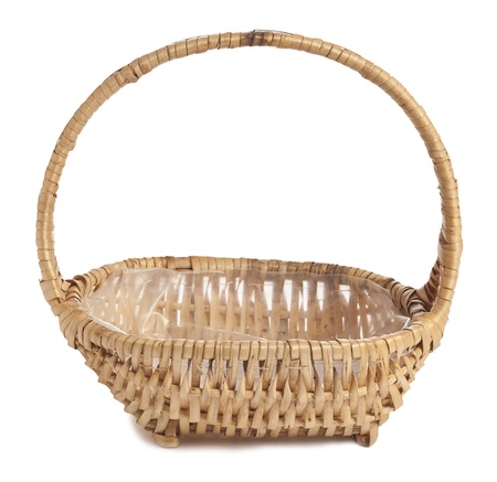 willow fruit basket: Basket isolated on a white background