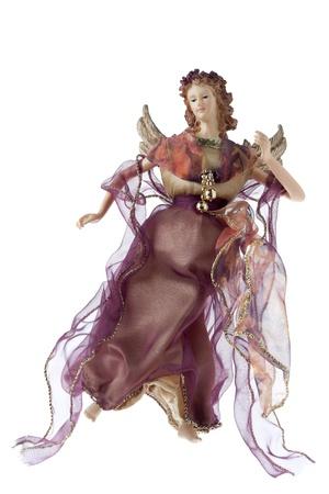 Image of beautiful angel isolated on white background photo