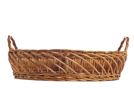 Carrying basket in a white background photo