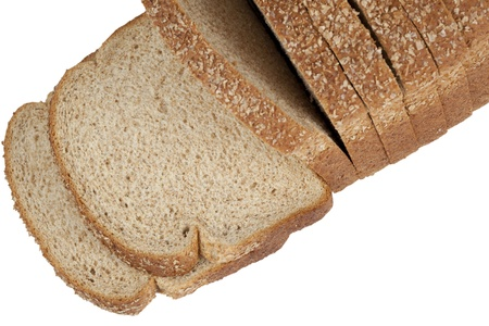 Close up image of loaf of bread against white background Stock Photo - 17167809