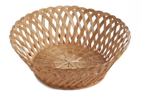 Empty basket isolated on photo