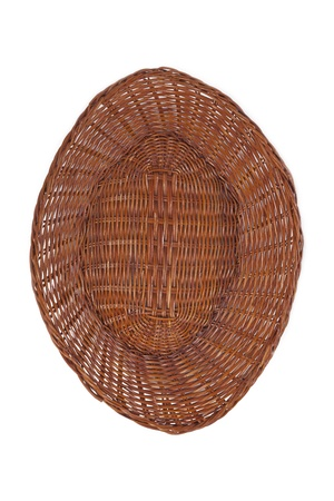 willow fruit basket: Top view image of an Empty farmer basket