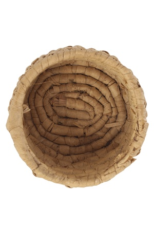 willow fruit basket: Empty wicker basket in a top view image