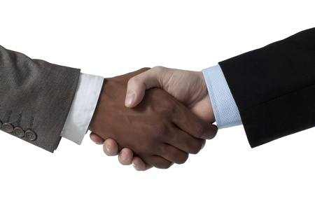 Portrait of partnership business shake hands Stok Fotoğraf