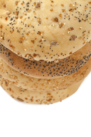 French bread rolls with poppy seeds in a cropped image Stock Photo - 17152971