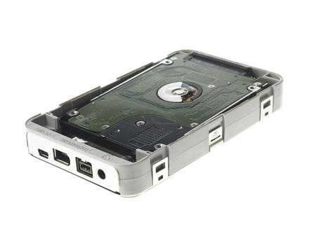 Close-up shot of portable hard disk.