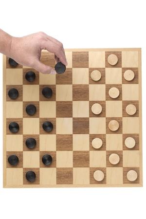 checker board: Damero en un primer plano la imagen Foto de archivo