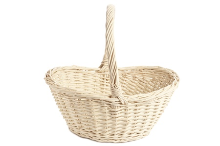 willow fruit basket: Gift basket against the white surface