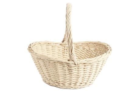 giftbasket: Gift mand tegen het witte oppervlak Stockfoto
