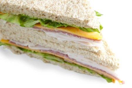 Ham and American cheese sandwich in a cropped image Stock Photo - 17152531