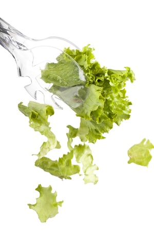 lettuces: Healthy lettuces for salad in a transparent tongs