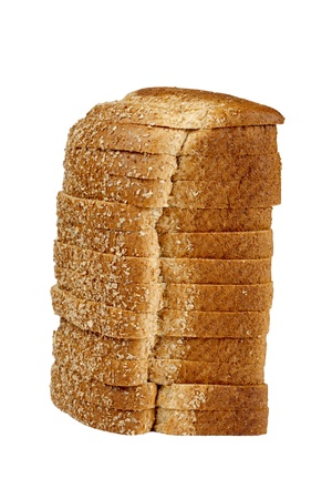 Close up image of loaf of bread on white against white background Stock Photo - 17167471