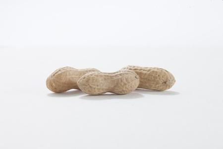 Image of three monkey nuts against white background Stock Photo - 17151718