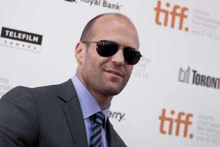 Actor Jason Statham arrives at the gala for the film Killer Elite during the Toronto International Film Festival in Toronto, Saturday, Sept., 10, 2011.